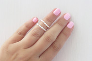 [Sample] Silver Stacking Rings