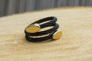 [Sample] Statement Black and Gold Ring