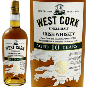 West Cork 10 Year Old Single Malt Irish Whiskey 750ml
