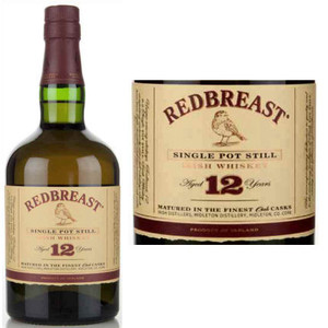 Redbreast 12 Year Old Irish Whiskey 750ml