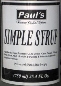 Paul's Premium Cocktail Mixers Simple Syrup 25.4oz