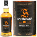 Springbank 10 Year Old Campbeltown Single Malt Scotch 750ml