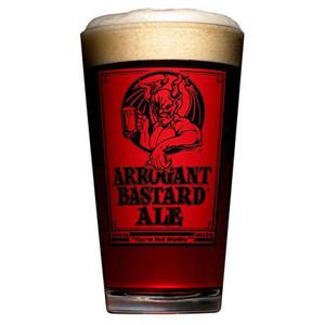 Stone Brewing Co.Arrogant Bastard Red Pint Glass