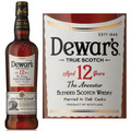 Dewar's 12 Year Old Double Aged Blended Scotch 750ML
