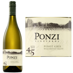 Ponzi Vineyards Willamette Valley Pinot Gris