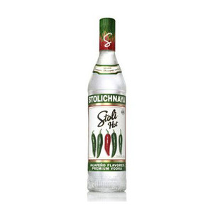 Stolichnaya Hot Jalapeno Flavored Russian Vodka 750ml