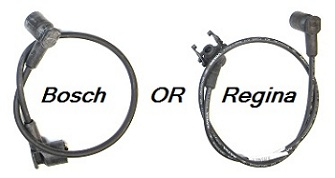 The two types of coil wires (Bosch & Regina)