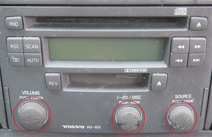 Replacement Volvo HU-615 Radio Knobs | Voluparts Online Store