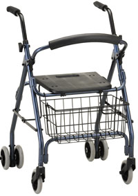 Photo of a four-wheeled walker