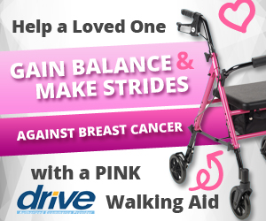 Click to buy your Breast Cancer Awareness Rollator NOW!