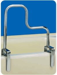 Carex Triple Bath Chrome Tub Rail