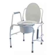 Silver Collection 3-n-1 Steel Drop Arm Commode with Back Bar