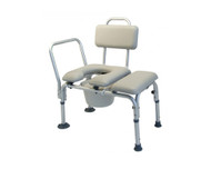 Lumex Commode Padded Transfer Bench with Backrest