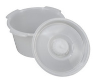 Briggs Healthcare Commode Pail with Lid 7 Quart