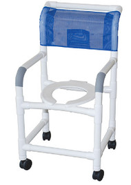 """MJM 18"""" Shower Chair with Elongated Open Front Seat"""