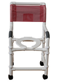 "MJM Knockdown 18"" Shower Chair with Deluxe Elongated Open Front Seat"