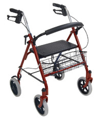 Drive 4-Wheeled Rollator Walker with Fold Up Removable Back Support
