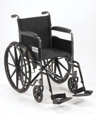 Drive Silver Sport 1 Wheelchair, Fixed Full Arms and Swingaway Footrests