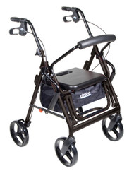 Drive Duet Transport Wheelchair/Rollator Walker - Black