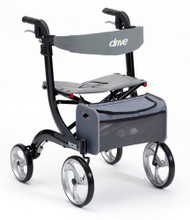 Drive Nitro Euro Style 4-Wheeled Rollator Walker - Black