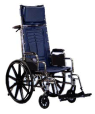 """Invacare Tracer SX5 Recliner Wheelchair 18"""" x 16"""" with Conventional Desk Arm"""