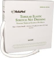 "ReliaMed Tubular Elastic Net Dressing, Size 1, 5.375"" .6"" flat measurement , Extra-Small"