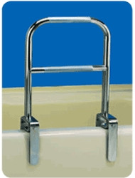 Double Bath Chrome Tub Rail