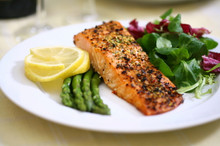 The Old Smokehouse - Hot Smoked Lemon Pepper Salmon Steak - 130g