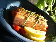 The Old Smokehouse - Hot Smoked Honey Salmon Steak - 130g