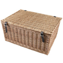 "Large 24"" Traditional Wicker Hamper Basket"