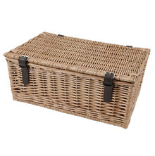 "18"" Traditional Wicker Hamper Basket"