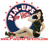 Pin-Ups For Vets Logo Sticker