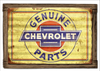 """""""GENUINE CHEVY PARTS"""" CORRUGATED BARN WOOD METAL SIGN"""