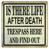 """TRESPASS  WARNING ""  METAL SIGN"