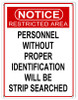 """RESTRICTED  AREA""  WARNING  METAL  SIGN"