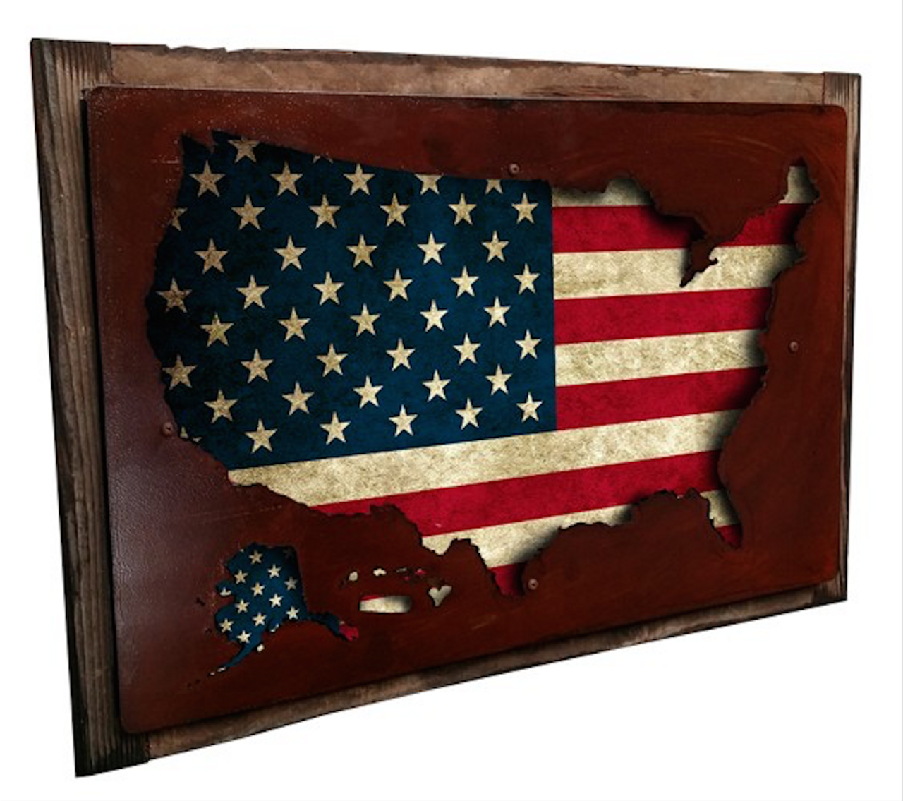 D USA MAP DISPLAY FRAMED WALL ART PinUps For Vets Store - Framed us map