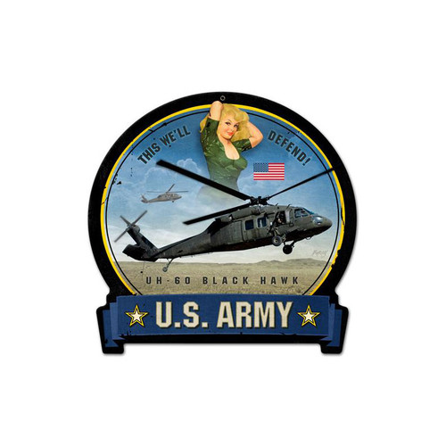 ARMY  BLACKHAWK   METAL   SIGN