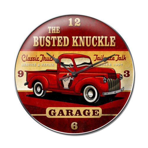 "THE  ""BUSTED  KNUCKLE  GARAGE""  CLOCK"