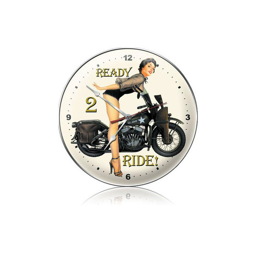 """READY  2   RIDE""  !   CLOCK"