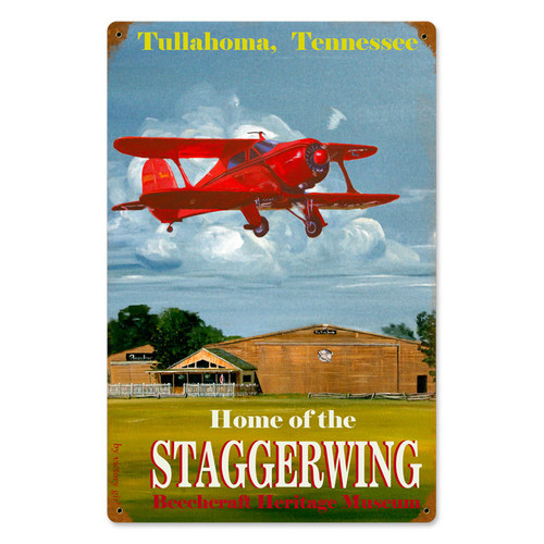 """STAGGERWING""  METAL VINTAGE SIGN"