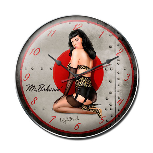 """MS  BEHAVIN""  CLOCK"