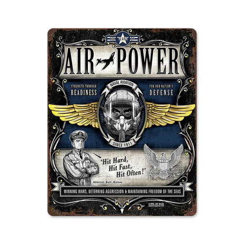 """NAVAL  AIR  POWER ""  METAL SIGN"