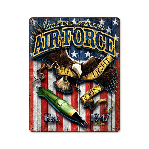 """""""USAF  EAGLE""""  VINTAGE  METAL  SIGN"""