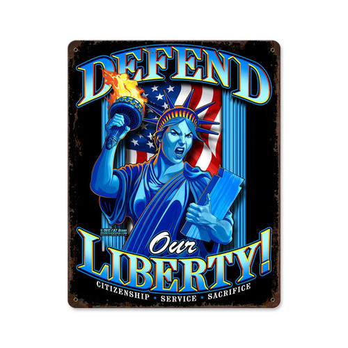 """LIBERTY"" VINTAGE METAL SIGN"