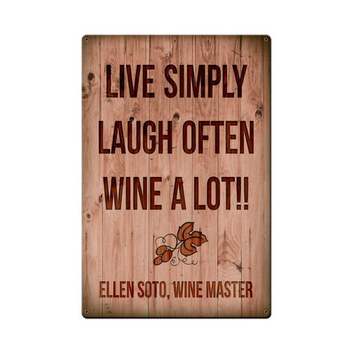 "'WINE  A LOT ""  PERSONALIZED METAL SIGN  (type a name in sign text box)"
