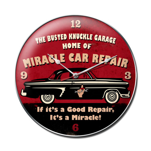 "'MIRACLE  CAR  REPAIR"" CLOCK"