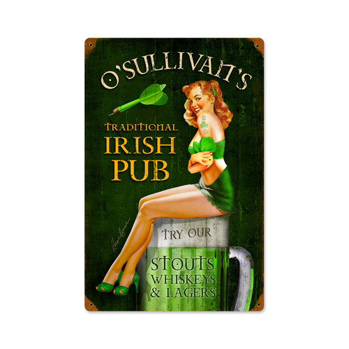 """IRISH PUB"" METAL SIGN"