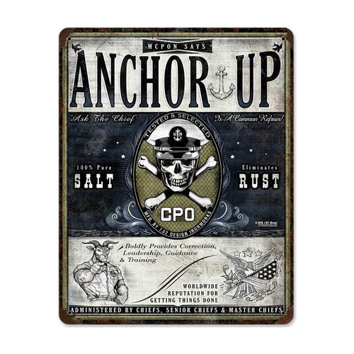 """ANCHOR  UP""  METAL  SIGN"