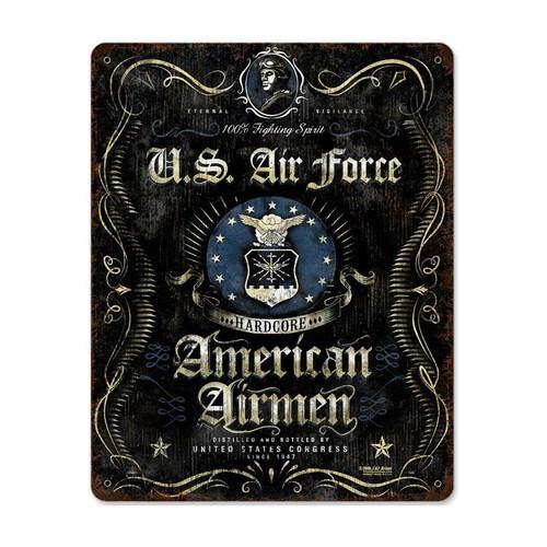 """USAF  SPIRIT""  METAL  SIGN"