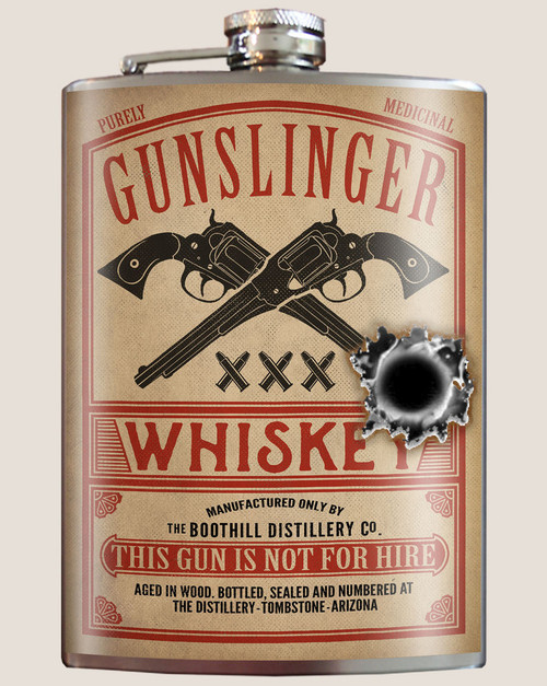 """GUNSLINGER  WHISKEY""  FLASK"